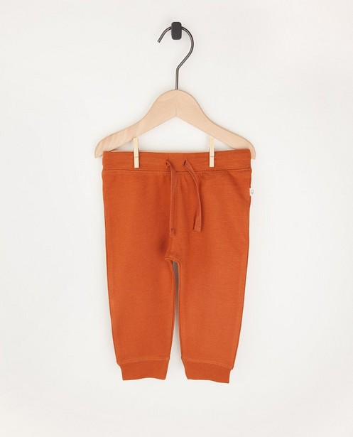 Pantalon molletonné rouille en coton bio - 2 pour 14,95 € - Cuddles and Smiles