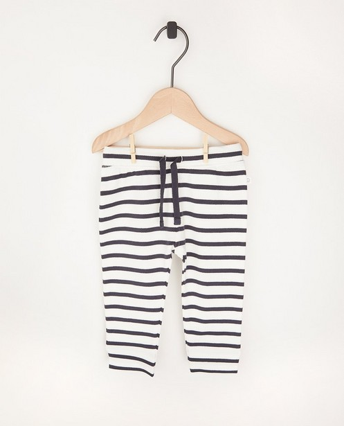 Pantalon molletonné rayé en coton bio - 2 pour 14,95 € - Cuddles and Smiles