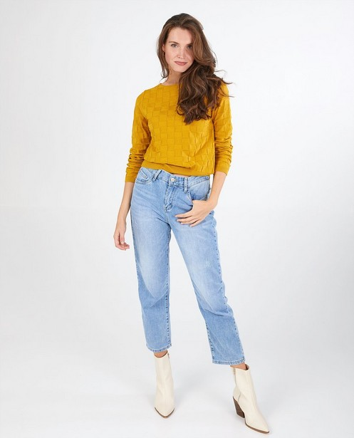 Pull jaune ocre Froy & Dind - fin tricot - Froy en Dind