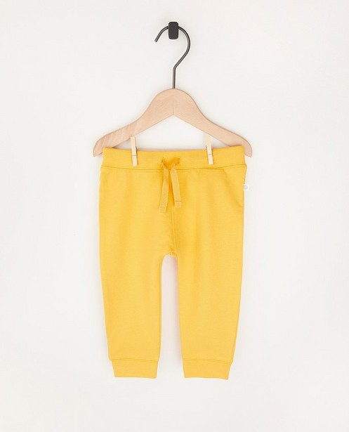 Pantalon molletonné ocre en coton bio - 2 pour 14,95 € - Cuddles and Smiles