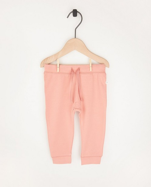 Pantalon molletonné rose en coton bio - 2 pour 14,95€ - Cuddles and Smiles