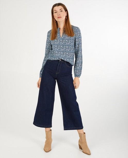 Jupe-culotte en denim bleu foncé Sora - taille haute - Sora