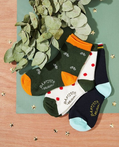 3 paires de chaussettes Baptiste, pointures39-46