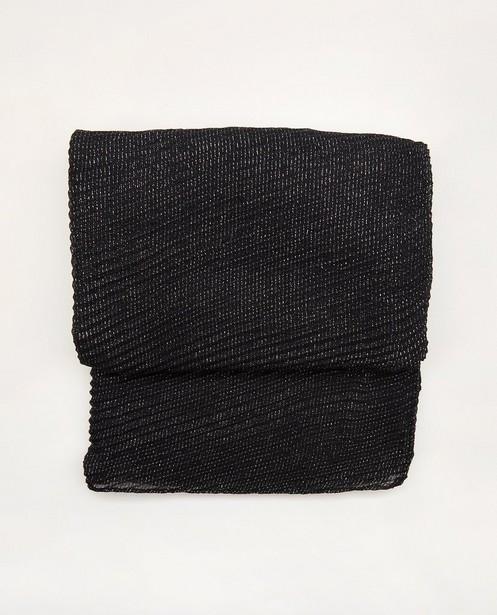 Écharpe noire avec fil métallisé Pieces - argenté - Pieces