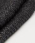 Bonneterie - Écharpe noire avec fil métallisé Pieces
