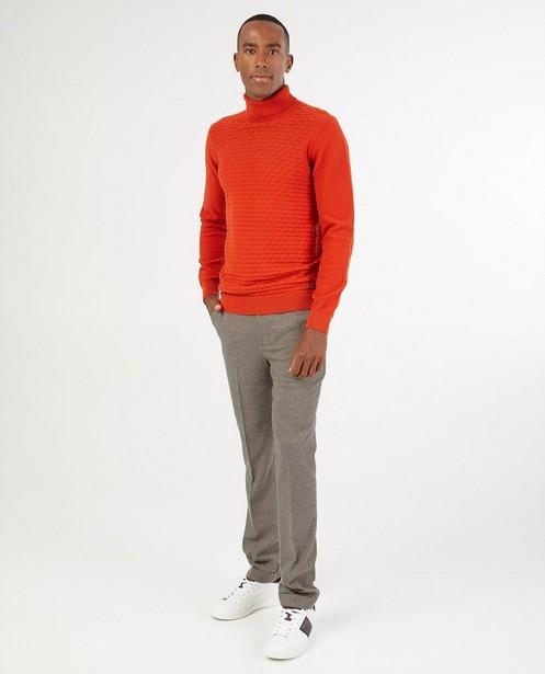 Pull orange Hampton Bays - à motif tricoté - Hampton Bays