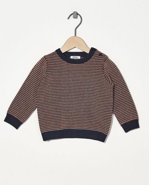 Pull bleu à imprimé - en fin tricot - Cuddles and Smiles