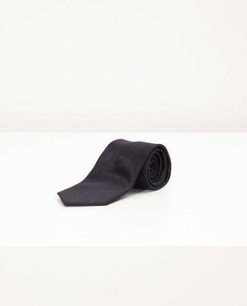 Zwarte stropdas van zijde - met reliëfpatroon - JBC