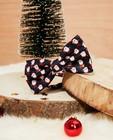 Kerststrikje met print, 3-7 jaar - in blauw - Familystories