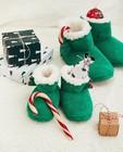 Schoenen - Groene kerstpantoffels, maat 23-32