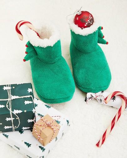 Groene kerstpantoffels, maat 33-40