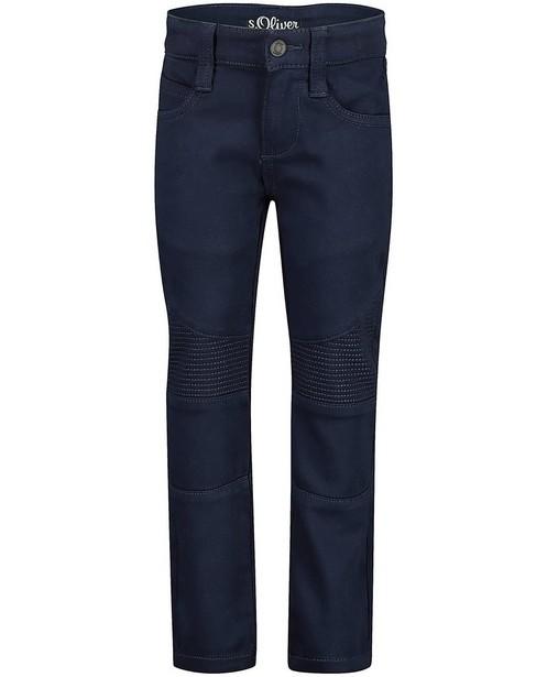 Blauwe slim broek Brad, s.OIiver - met siernaden - S. Oliver