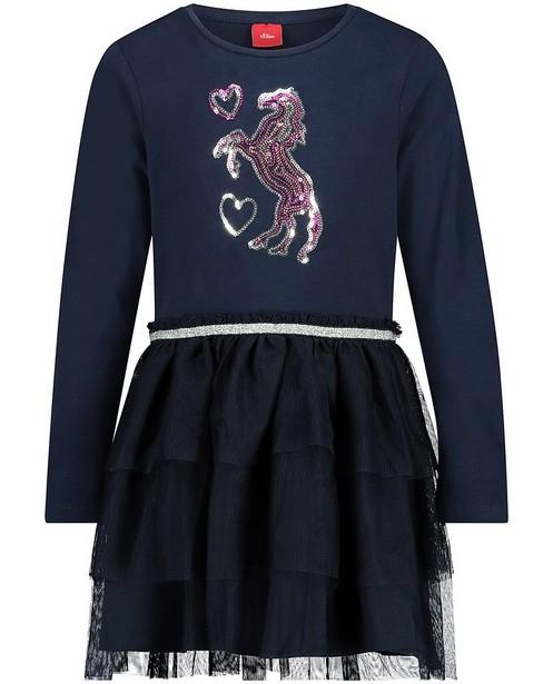 Robe bleue avec du tulle s.Oliver - au niveau de la jupe - S. Oliver