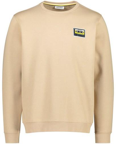 Beige sweater met patch
