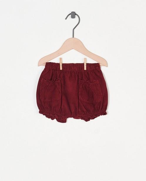Pantalon en velours côtelé Enfants - bordeaux - Enfant