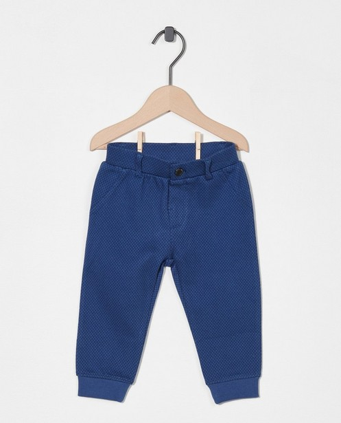 Blauwe broek met ruitpatroon - stretch - Cuddles and Smiles