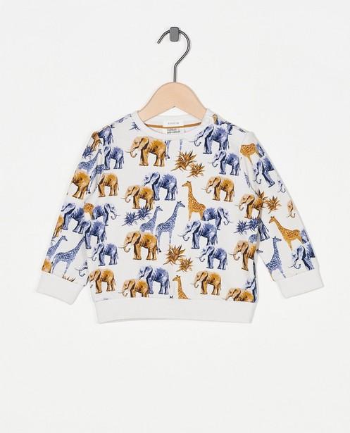 Sweater met print van biokatoen - dierenprint - Cuddles and Smiles