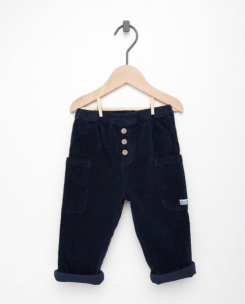 Blauwe broek van fluweel Enfant - stretch - Enfant