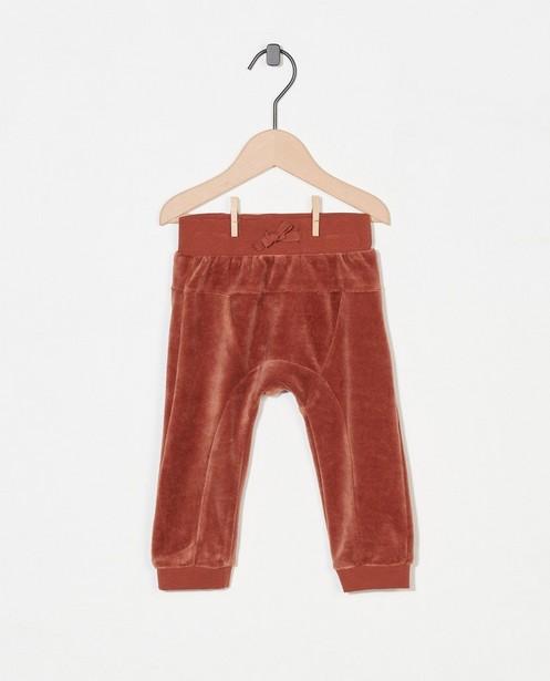 Pantalon brun en fleece Fixoni - stretch - Fixoni