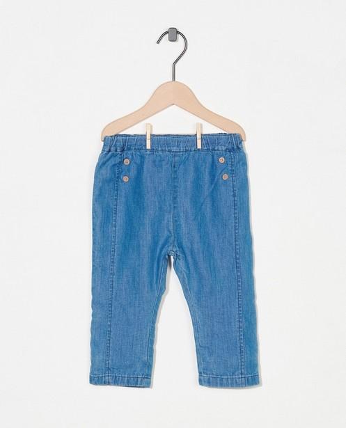 Pantalon en denim bleu Fixoni - petits boutons - Fixoni