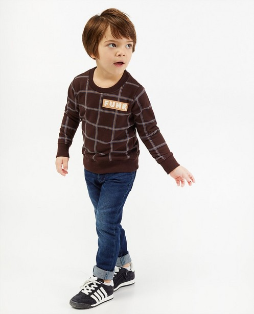Sweater met ruiten 4funkyflavours - allover - 4funkyflavours