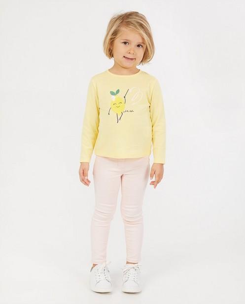 T-shirt jaune à manches longues BESTies - à imprimé - Besties