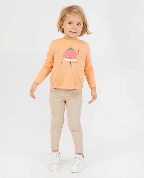 T-shirt orange à manches longues BESTies - à imprimé - Besties