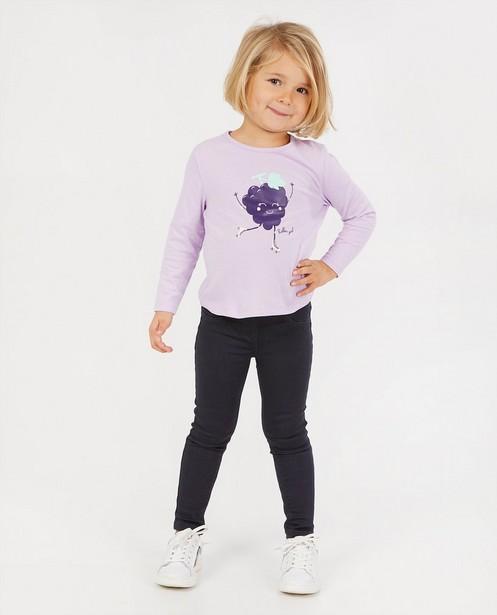 T-shirt lilas à manches longues BESTies - à imprimé - Besties