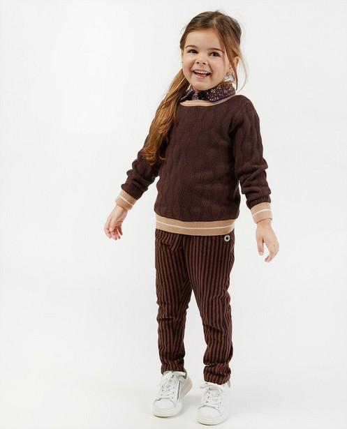 Pull brun 4funkyflavours - à motif tricoté - 4funkyflavours