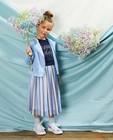 Blauw vestje van suède Communie - met ritssluiting - Milla Star