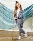Grijze broek met print Communie - en paperbag waist - Milla Star