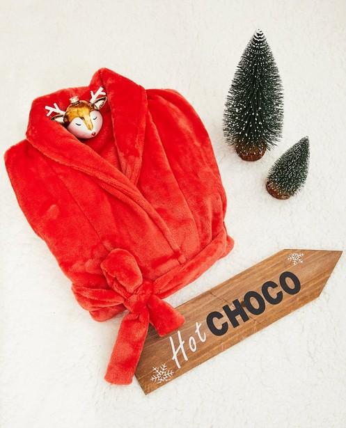 Peignoir rouge en fleece - #familystoriesjbc - Familystories