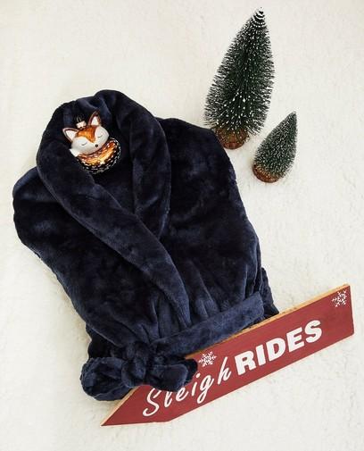 Blauwe kamerjas van fleece