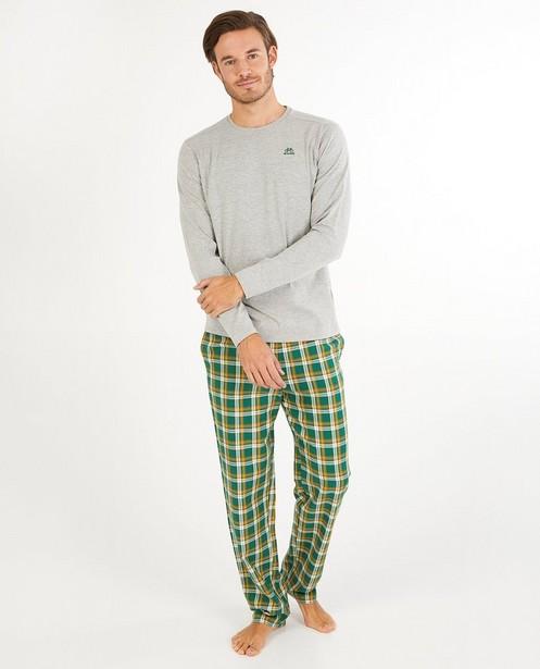 Pantalon vert à carreaux Baptiste - imprimé intégral - Baptiste