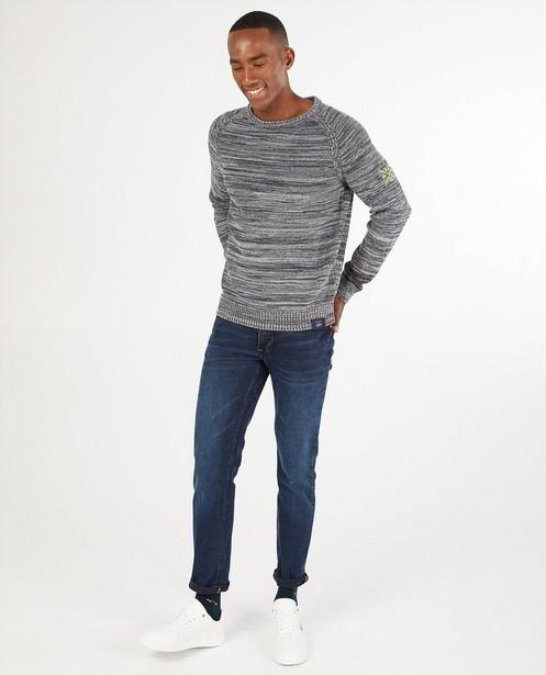 Pull gris et blanc Lerros - fin tricot - Lerros