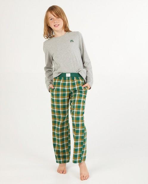 Pantalon à carreaux Baptiste, 7-14 ans - vert - Baptiste
