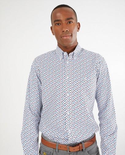 Wit hemd met print Lerros