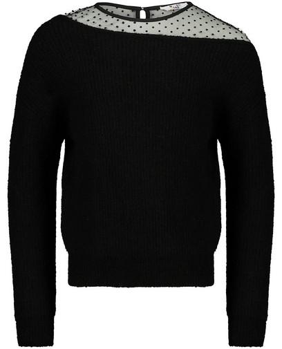 Zwarte combi-trui