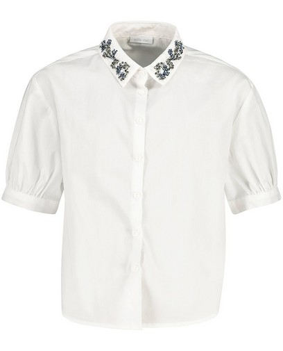 Wit hemdje met steentjes Communie