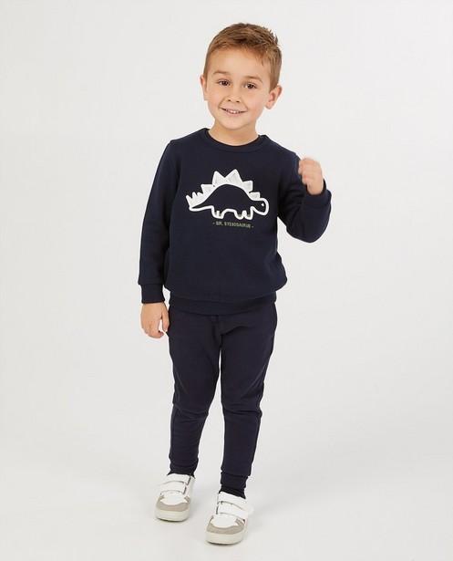 Blauwe sweater met print BESTies - diertje - Besties
