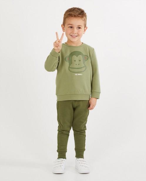 Groene sweater met print BESTies - diertje - Besties