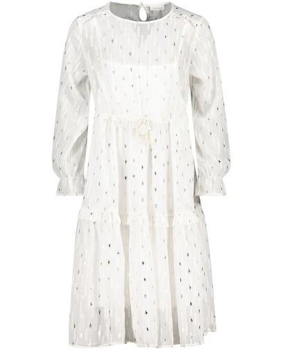 Witte jurk met metaaldraad Communie