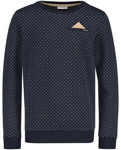 Blauwe sweater met pochet Communie