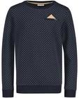 Sweaters - Blauwe sweater met pochet Communie