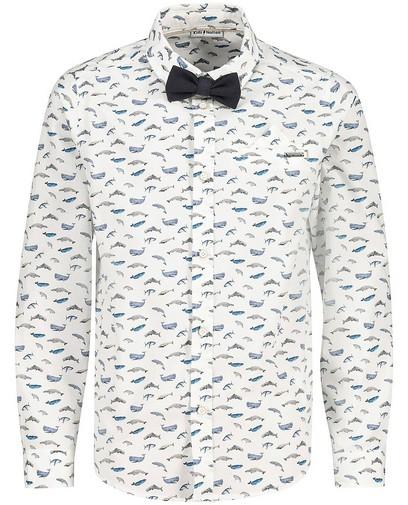 Wit hemd met print Communie