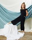 Blauw jumpsuit met plissé Communie - elastische tailleband - Milla Star