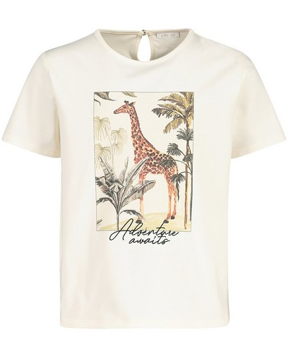 Offwhite T-shirt met print Communie