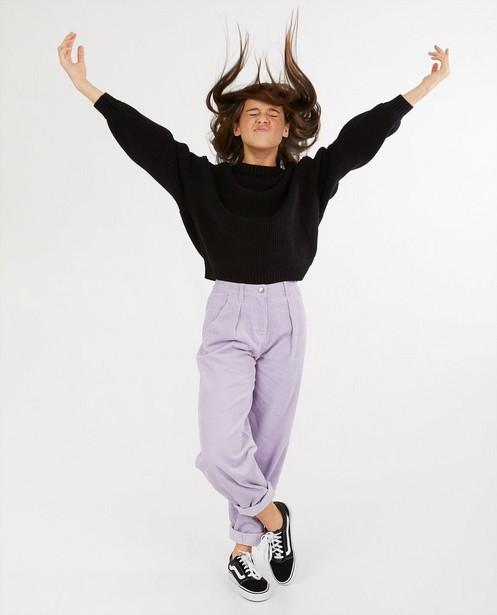 Pantalon mauve en velours côtelé - uni - Groggy