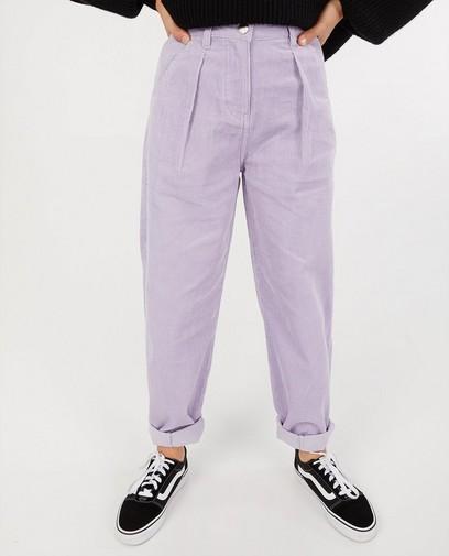 Pantalon mauve en velours côtelé