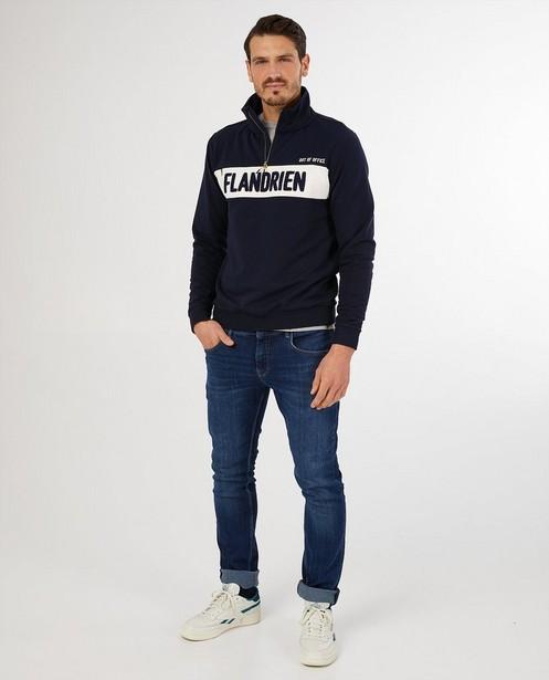 Blauwe sweater Baptiste - 'flandrien' - Baptiste